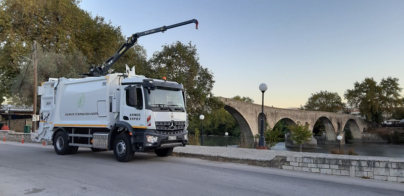 Brand New Garbage Truck for the Municipality of Ziros